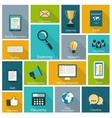 Set of modern icons in flat design vector image vector image