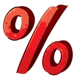 Artistic percent sign vector image