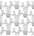 black and white seamless pattern of ornamental vector image