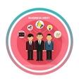 Business people on meet vector image