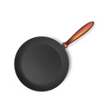 Frying pan isolated on white background vector image