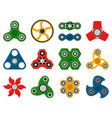 hand spinner toys for anti stress games vector image