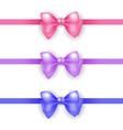 holiday ribbon and bow set vector image
