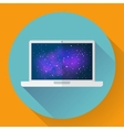 Laptop icon with space image vector image