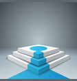pedestal ladder stail for winners - business vector image