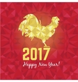 red and golden rooster vector image