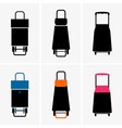 Shopping trolley bags vector image