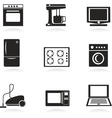 Home electrical appliances set vector image
