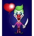 Funny clown celebration vector image