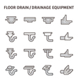 Floor drain icon vector image