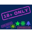 18 Plus Only Rubber Stamp vector image