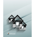 house icon 3d paper design vector image