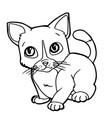 Cartoon cute cat coloring page vector image