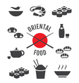 Set of oriental japanese food icons vector image vector image