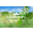 Summer postcard vector image