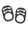 baby shoes solid icon footwear and fashion vector image