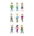 Cleaning Staff Man and Woman Characters Isolated vector image