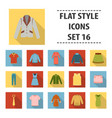 clothes set icons in flat style big collection vector image