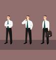 collection of standing businessmen in tie vector image