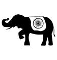 Elephant india flag vector image