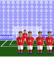 England Soccer Club Penalty on Stadium vector image