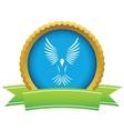 Gold bird logo vector image