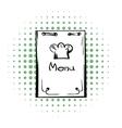 Restaurant menu comics icon vector image