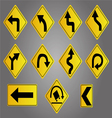 road signs set vector image