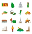 Sri Lanka Icons vector image