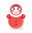 tumbler toy roly poly icon vector image