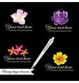 Set of symbols for logo designing vector image vector image