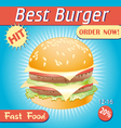 tasty burger vector image