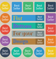 Best seller sign icon Best-seller award symbol Set vector image