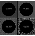 Set of White Dots Frames on Black Background vector image