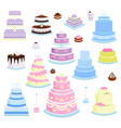 cake pie cartoon style isolated vector image