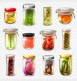 canned goods set transparent background vector image
