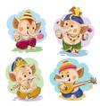 cartoon little baby ganesha indian god vector image