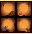 halloween set of posters on vector image