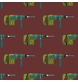 hammer drill seamless pattern vector image