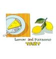 lemon pistachio tart vector image