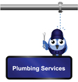 Plumbing Services Sign vector image