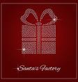 Rhinestone Holiday Season Template vector image