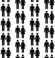 seamless pattern with people silhouettes vector image