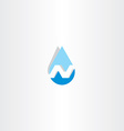 water drop letter n icon vector image