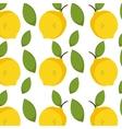 lemon fruit background vector image