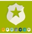 Flat design police badge vector image