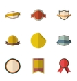 Sticker icons set flat style vector image vector image