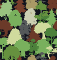 deep forest camouflage seamless pattern vector image vector image