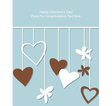 hearts on strings vector image vector image