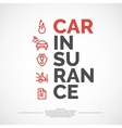 Car insurance poster vector image